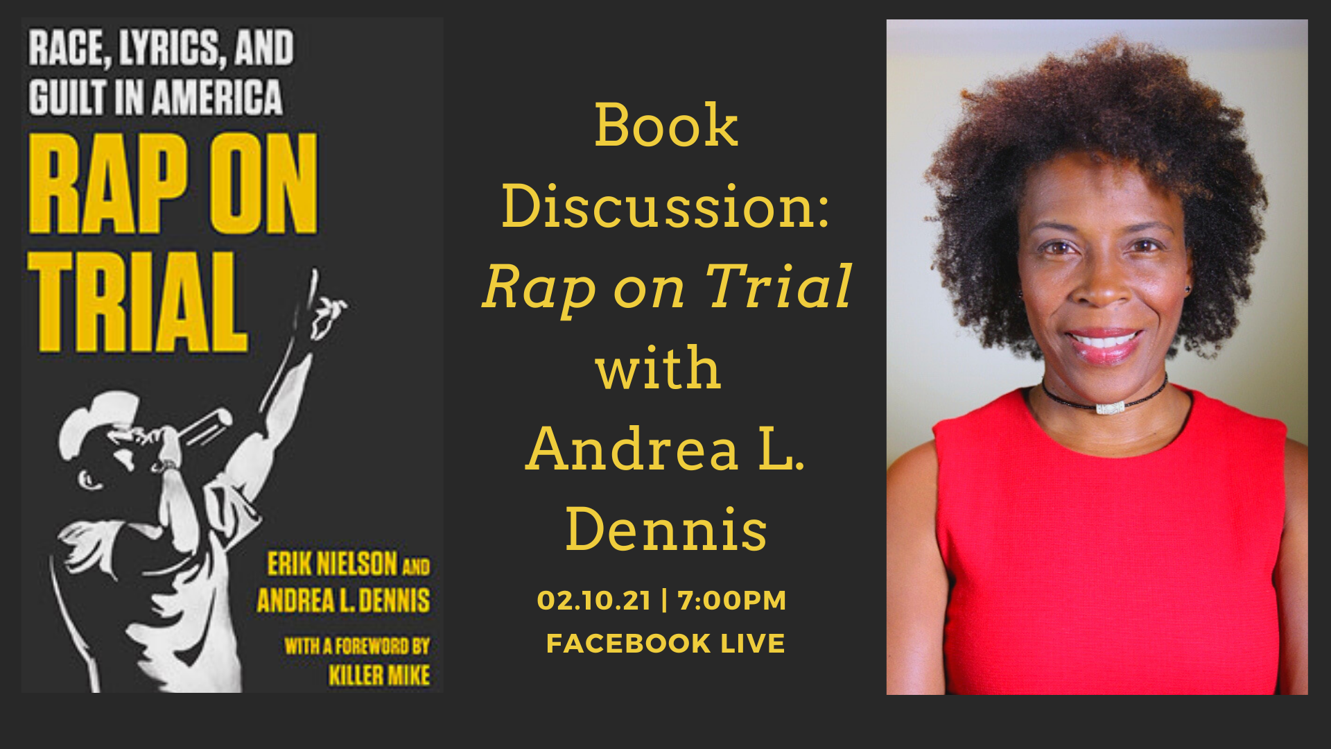 Book Discussion: Rap on Trial with Andrea L. Dennis