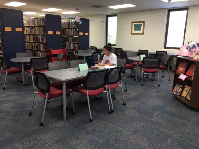 Curriculum Materials Library study space