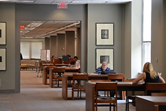 First floor study space at Main Library