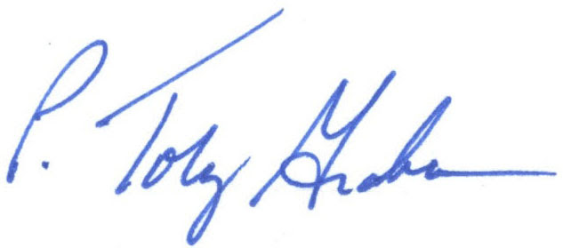 Signature of Toby Graham, University Librarian